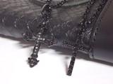 【売り切り】ブラッククロスネックレス・2スタイル
