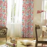 遮光カーテン【ズカン】森で採れるキノコや植物を所狭しと配置した、楽しいデザインの遮光カーテン