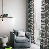 カーテン【アカシカ】赤鹿をモチーフにしたノルディック調デザイン。温かみのあるジャガード織カーテン
