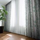 1級遮光カーテン【グロース】植物の生命力を表現した大らかなストライプ柄の1級遮光カーテン