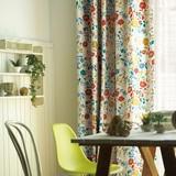 1級遮光カーテン【フローラルガーデン】お部屋に花畑が咲いたかのような、華やかな1級遮光カーテン