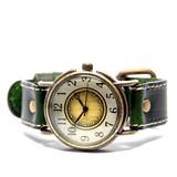 アンティーク風 革ベルト時計