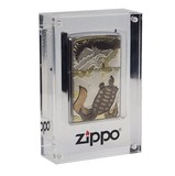 (Zippo)ジッポーロゴ入り アクリルマグネットケース ジッポーライター専用コレクションケース THO