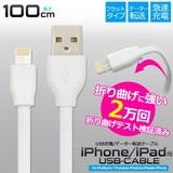 意匠登録済 充電&データ通信OK! iPhone/iPad用USBケーブル 100cm