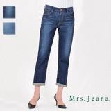 【SALE】ミセス ロールアップしてこなれた雰囲気になるボーイフレンドジーンズ
