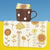 Towel Handkerchief Yellow Flower
