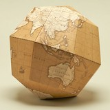 1枚の紙から生まれた組み立て式の地球儀【geografia】組立式地球儀 アンティーク