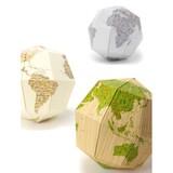 地球の構造が体感できる組み立て式の地球儀【geografia】組立式地球儀 マテリアル