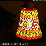 お部屋に広がる幻想的で優しい灯り【モザイクガラスペンダントランプJ】エスニックランプ