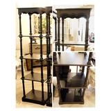 大型【4段-木製シェルフブラック/木製棚 】オープンシェルフ店舗什器