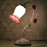 ★歳末SALE特価★ピンクブッド1灯タッチランプ