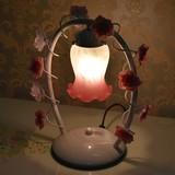 スズランのシェードが可愛い!|ピンクブッドベル1灯タッチランプ