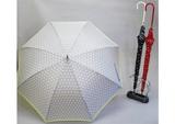 2015 S&S新作 【ジュビア】婦人用雨傘  ドットリボンボーダー