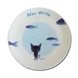 【ブルー・ワールド】BBプレート(ラピスと魚)