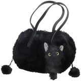 【いっしょがいいね】猫 巾着風バッグ 黒猫