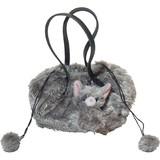 【いっしょがいいね】猫 巾着風バッグ グレー猫