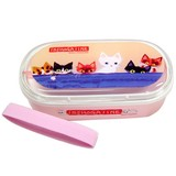 【いっしょがいいね】猫 お弁当箱 ぴんく