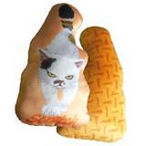 【スクラッチ】ビーズクッション オレンジ