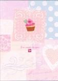 MADISON PARK GREETINGS バレンタイングリーティングカード <ハート×カップケーキ>