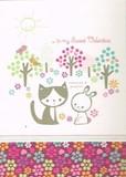 MADISON PARK GREETINGS バレンタイングリーティングカード <うさぎ×猫>