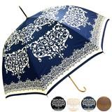 ★2015【春夏新作】日傘★雨晴兼用 ダマスク柄ジャンプ傘♪ネット限定カラー有♪UV対策