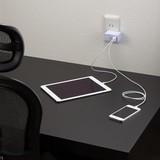 AC/USB変換アダプター2USB3.1Aホワイト