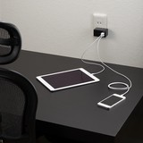 AC/USB変換アダプター2USB3.1Aブラック