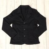 【日本製人気定番商品】ストレッチツイル ブラックジャケット