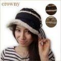 【値下げ!】【Crowny】ムートンハット<3color・日本製・ガーリー>