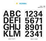 HERMA ラベル 25mm 黒字シール アルファベット 数字 スクール