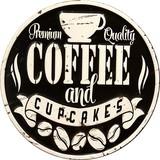 """アンティークエンボスプレート[ダイカット""""Coffee Black""""]"""