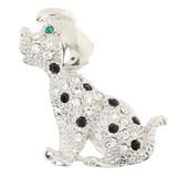 ダルメシアンブローチ(約3.4cm×3.8cm)【犬】【いぬ】【イヌ】