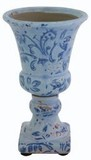 【インテリア・花器/ベース】人気シリーズに新色が登場! Flute ベース (blue アラベスク)
