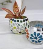 【インテリア・ホルダー】お花やキャンドルを入れて♪ Mosaic ボティーブ サーキュラー