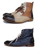 【定番新色】紳士靴★編み上げアウトステッチブーツ(02011)納品可