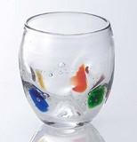 ■【ガラス/グラス】水玉コップ