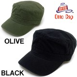 メンズ ワークキャップ OTTO オットー ウォッシュ加工 ツイル キャップ 無地 帽子 ミリタリーキャップ 帽子