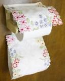 【再入荷】彩り豊かな花刺繍 花環シリーズ ペーパーホルダー