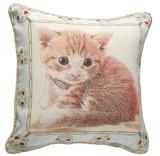 【新企画:高密度ジャガード織】可愛い猫ちゃんのクッションカバー 2008