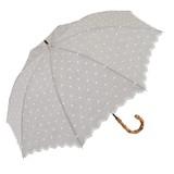 【★特価★】30%OFF【晴雨兼用傘】長傘 シャンブレーフラワー刺繍