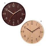 Interior Various Accessories Spherical Surface Glass Wood Wall Clock