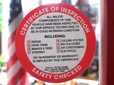 SAFETY CHECKED Sticker / アメリカ整備用ステッカー