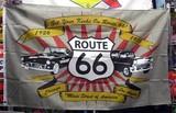 極少量再入荷!!!ROUTE66 FLAG(car) / アメリカン フラッグ