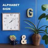 ★SALE★陶器製ウォールデコレーション *【ALPHABET SIGN】アルファベット サイン *ガーデン インテリア