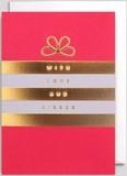 【Kelly Hyatt】 グリーティングカード1018 WITH LOVE AND KISSES