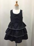 SALE(トドラー女の子)レース使いストライプジャンバースカート