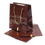 ミニ紙袋(CROCE)手提げミニ袋 艶有ブラウン