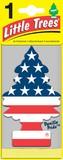 【車にお部屋に☆吊下げ式芳香剤】バニラプライド 米国旗柄