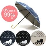ドットネコ日傘★UV遮蔽率99%以上!【晴雨兼用日傘 紫外線対策】【UVカット】