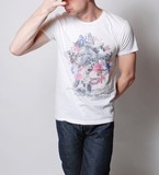 Build-To-Order Manufacturing Giraffe Flower Short Sleeve T-shirt For Summer